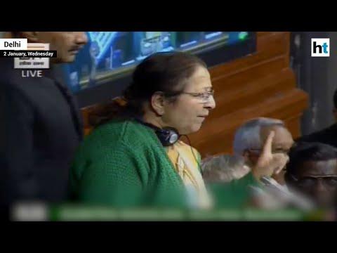 Sumitra Mahajan scolds Congress for throwing paper planes during Rafale debate