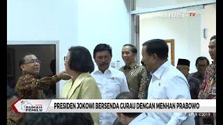Momen Presiden Jokowi Bersenda Gurau dengan Menhan Prabowo