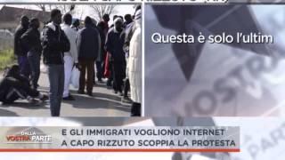 ANCORA PROTESTE  A CAPO RIZZUTO I #CLANDESTINI VOGLIONO SOLDI E INTERNET
