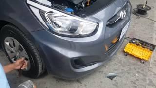 Jeff tan tutorial hyundai accent front bumper removal
