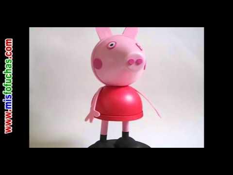 Peppa pig en foami 3d o mu eca fofucha peppa pig video for En youtube peppa pig