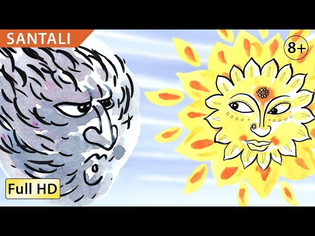 The Wind and the Sun: Learn Santali with subtitles - Story for Children
