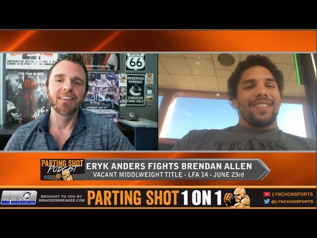 """LFA 14's Eryk Anders """"I'm knocking out Brendan Allen within three minutes of the first round"""""""
