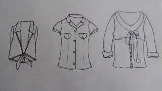Draw Fashion Tops (Part 1) - knotted sleeveless top, retro blouse, biarritz blouse