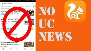 How to remove UC News from UC Browser