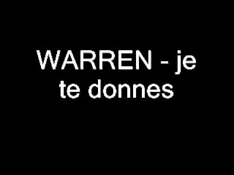 Warren je te donnes zouk 2005 youtube for Je te transmet
