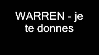 WARREN   je te donnes   Zouk 2005