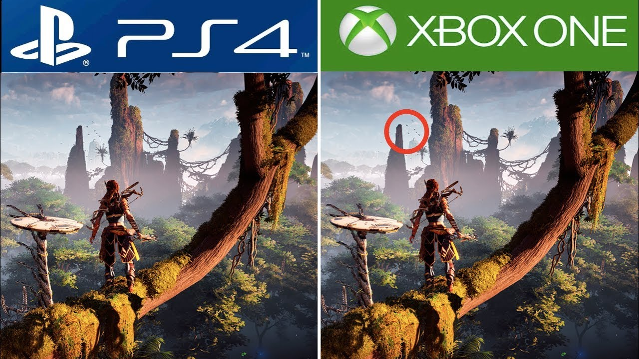 horizon zero dawn ps4 vs xbox one graphics comparison ps4 pro vs xbox one x youtube