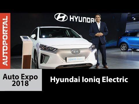 Hyundai Ioniq Electric at Auto Expo 2018 - Autoportal