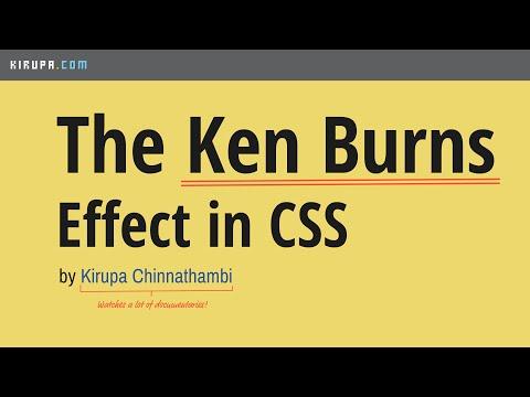 The Ken Burns Effect Using CSS Animations | kirupa com