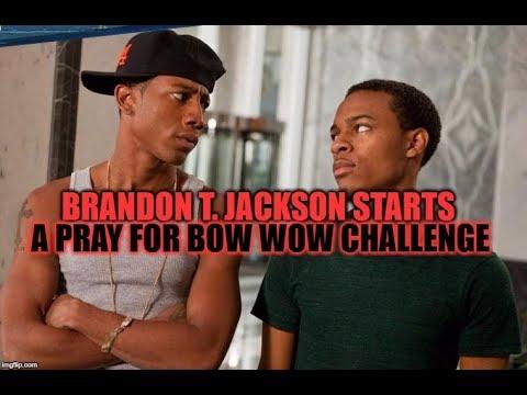 BRANDON T  JACKSON STARTS A PRAY FOR BOW WOW CHALLENGE