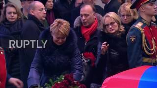 Russia  Muscovites pay tribute to 'People's Diplomat' Vitali Churkin