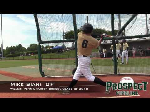 Mike Siani Prospect Video, OF, William Penn Charter School Class of 2018