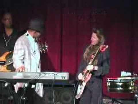 Lemon James girl guitarist jamms with BRIAN O'NEAL