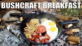 Bushcraft Breakfast Cooking aт my Shelter Camp