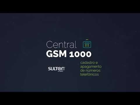 Central GSM 1000 Sulton   Cadastro e Apagamento de Números Telefônicos