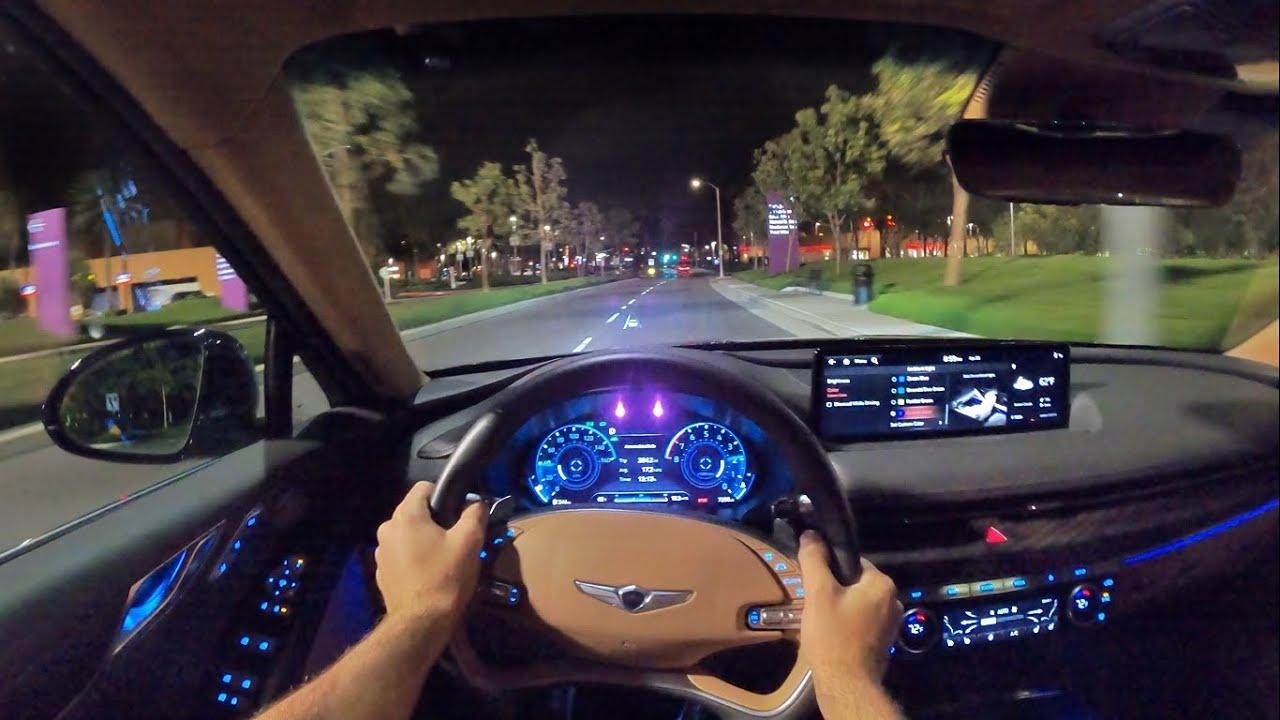 Download 2021 Genesis G80 3.5T AWD Prestige POV Night Drive (3D Audio)(ASMR)