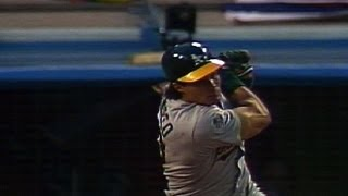 Canseco grand slam hits camera