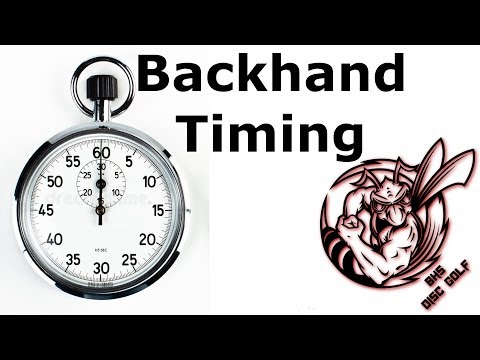 Disc Golf Backhand Timing in 5 Phases