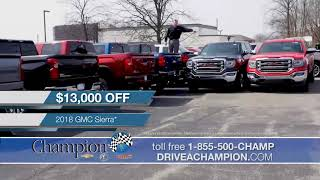 $10,000 Off Every 2019 Silverado - Champion Chevrolet