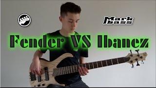 Fender Jazz Bass Maple vs Ibanez BTB VOLO Rosewood fretboard demo
