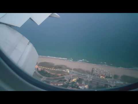 Barcelona landing by Emirates airline
