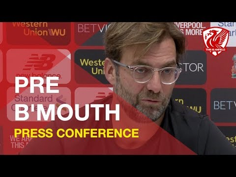 Bournemouth Vs. Liverpool   Jurgen Klopp Press Conference