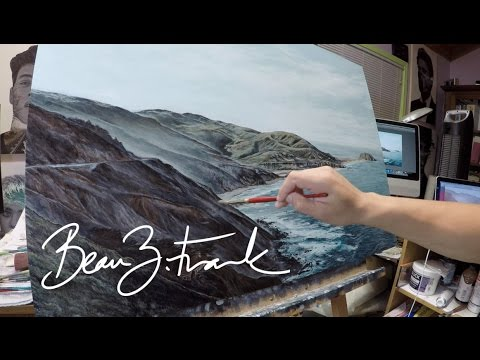Big Sur oil painting Time lapse