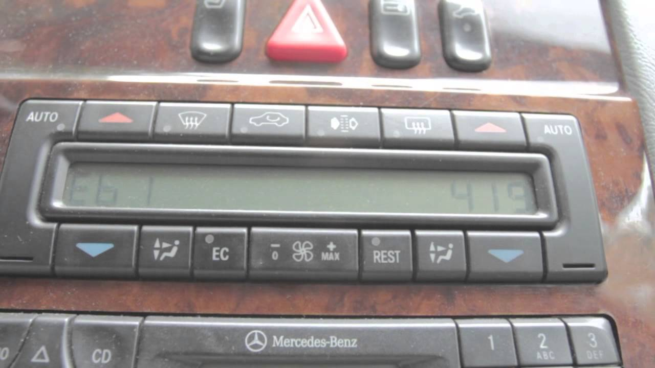 Mercedes w210 climate control fault codes youtube for Mercedes benz diagnostic codes