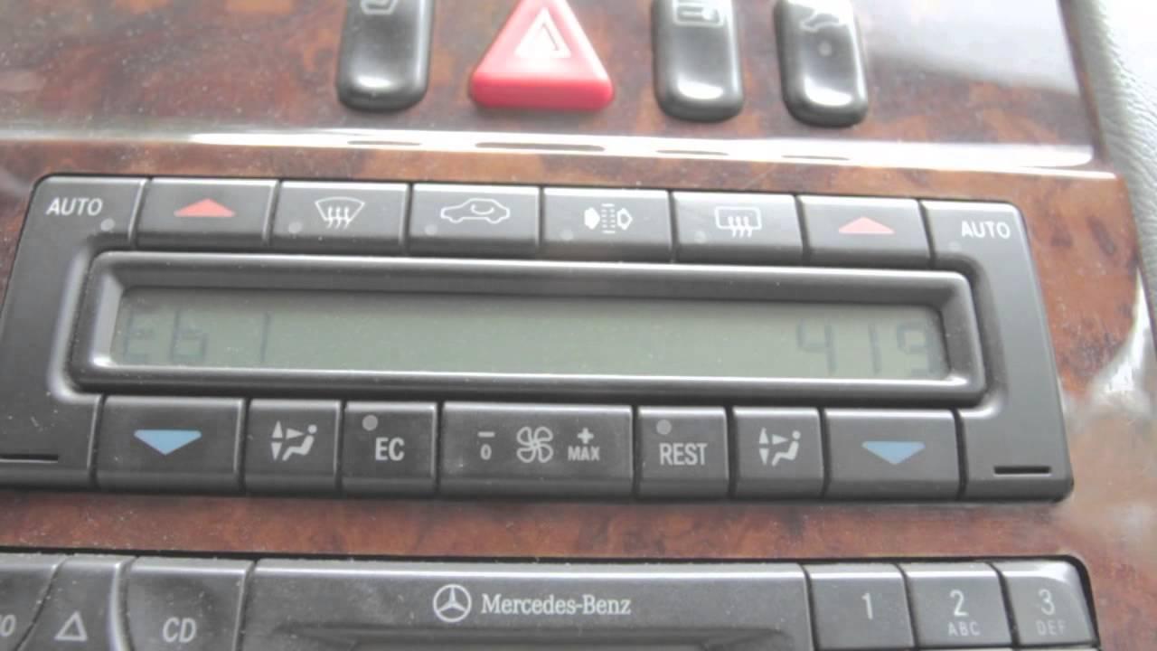 Mercedes benz climate control error codes for Mercedes benz bluetooth code
