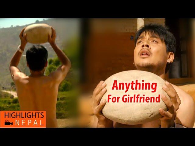 Boys Can Do Anything For His Girlfriend   Nepali Movie AJHAI PANI   Puja Sharma, Alok Nembang