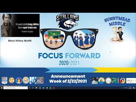 Sunnymead Middle School News for February 22, 2021