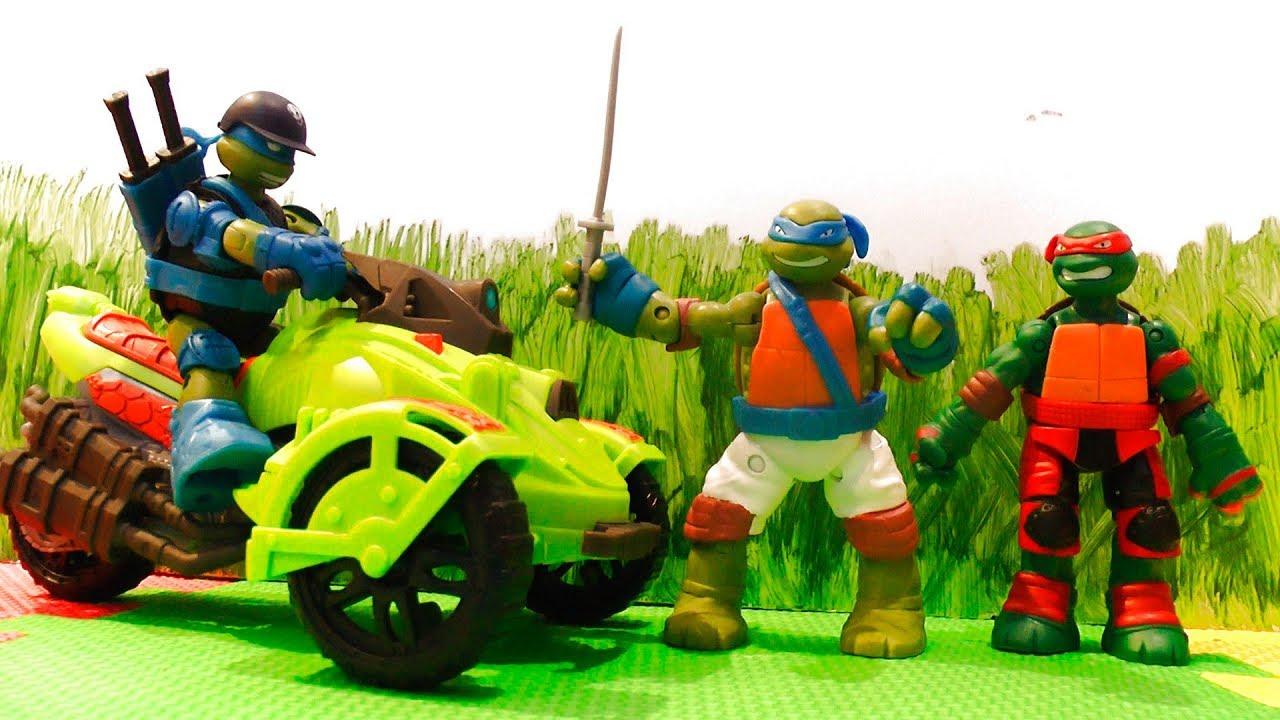 Черепашки Ниндзя - Распаковка игрушек для мальчиков - Видео для детей