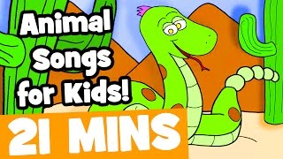 Animal Songs for Kids | 21mins Kids Songs Collection