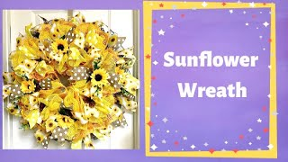 How to make a ruffle sunflower wreath with multiple kinds of mesh together