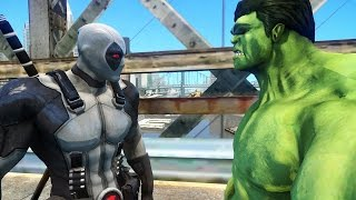 DEADPOOL (X-FORCE) VS HULK - EPIC BATTLE