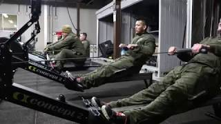 Commanding generals training with Marines ((B-Roll)