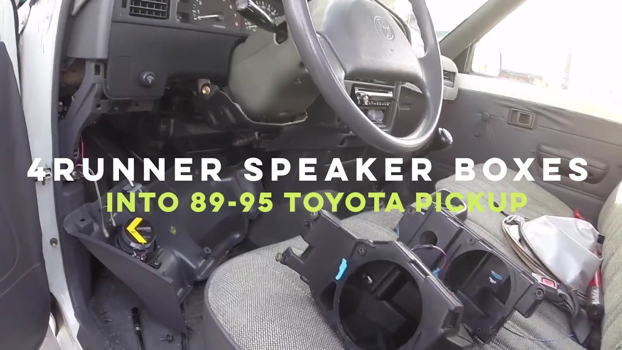 How to Install 4Runner speaker boxes into 8995 Toyota Pickup  YouTube