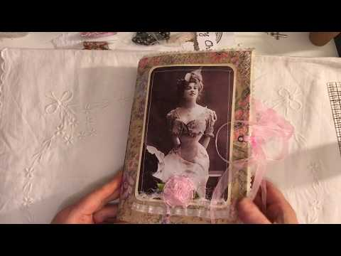 Fabric Covered Paris vintage junk journal
