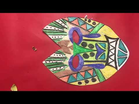 African Mask design for kindergarten