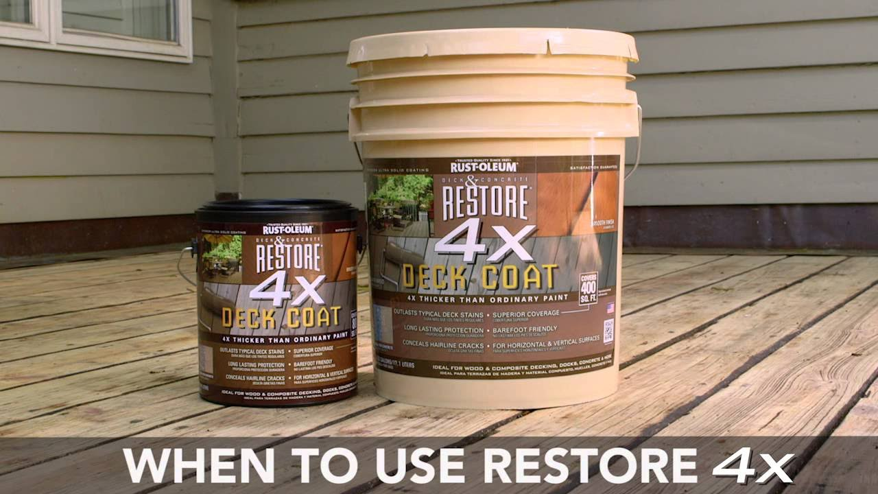 Deck Staining Rust Oleum Restore 2x And 4x Youtube