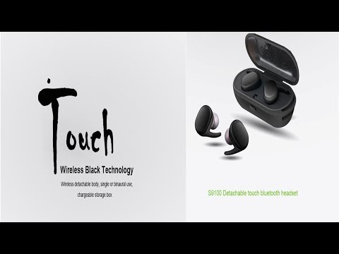 Unboxing the Samsung/Apple killer,JH-S9100 Earbuds Wireless,TOUCH,Waterproof,charging case below 50$