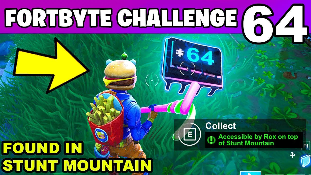 Fortbyte 64 Accessible By Rox On Top Of Stunt Mountain Location