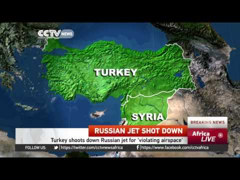 Turkey shoots down Russian jet for violating 'airspace'