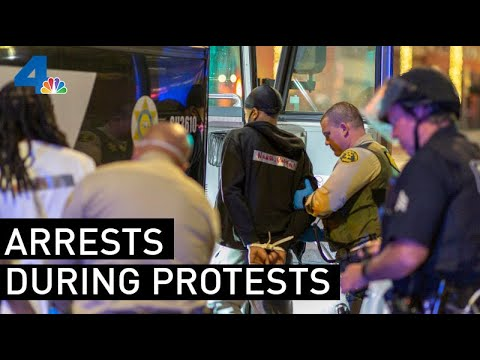 How LAPD Is Dealing With Arresting And Processing Protesters | NBCLA