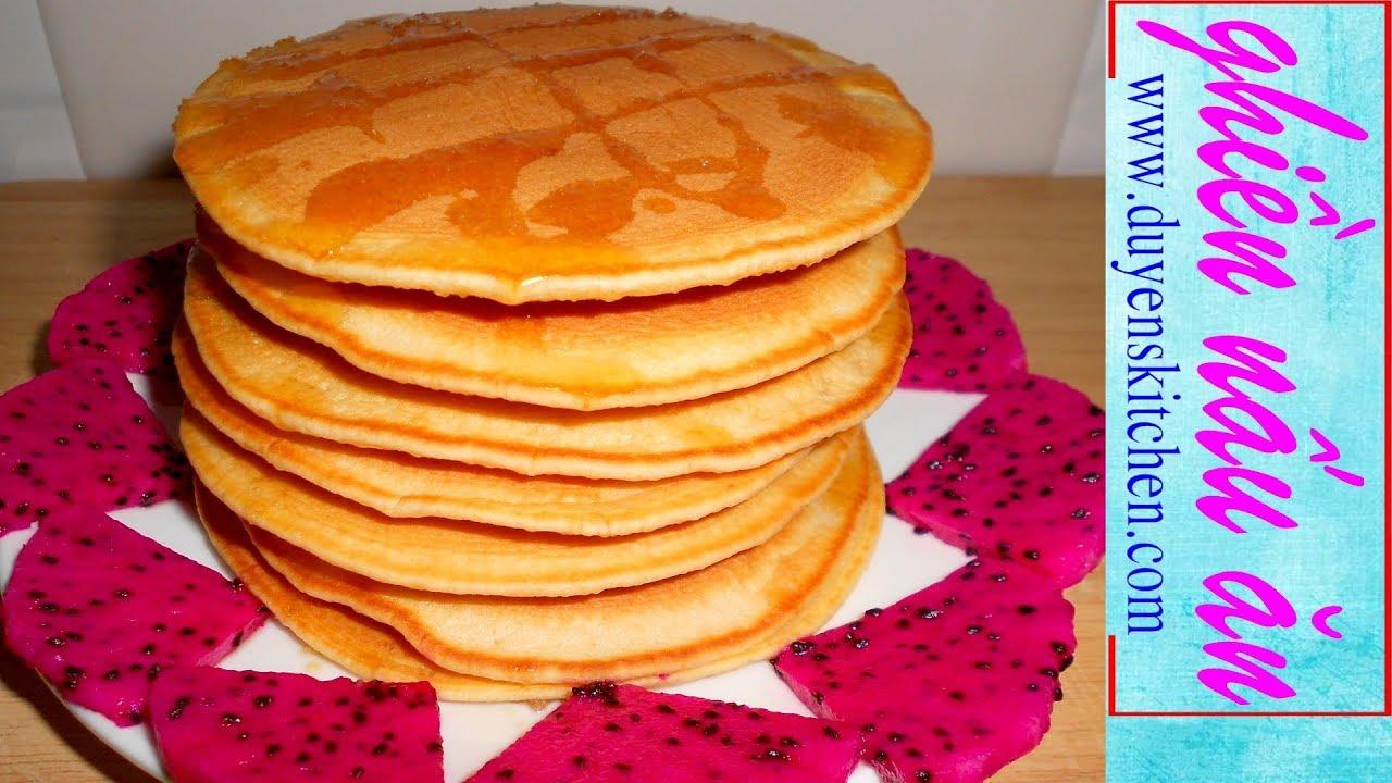 Cách Làm BÁNH PHÈN LA Rất Dễ Bằng Chảo Không Dính (Bánh Pancake, Bánh Bột Mì) By Duyen's Kitchen