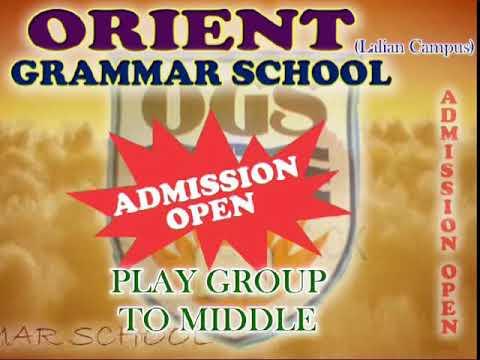 Promotional Advertisement of Orient Grammar School