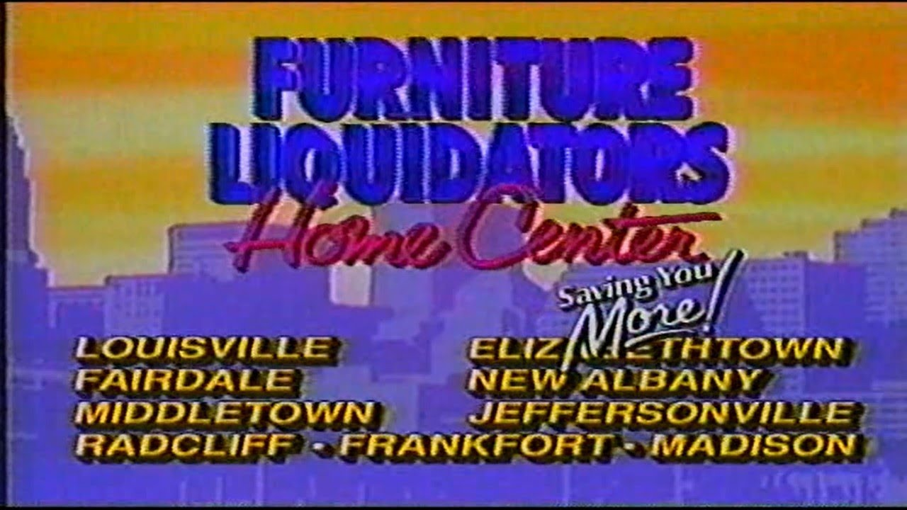 Nice Furniture Liquidators Home Center 90s Era Commercial