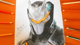 DRAWING OMEGA SKIN FULLY UPGRADED | HOW TO DRAW MAX LEVEL TIER 100 OMEGA | FORTNITE