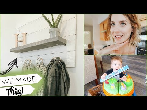 AWESOME DIY WALL DECOR/SHELF | Farmhouse Inspired Home DIYS | Vlog